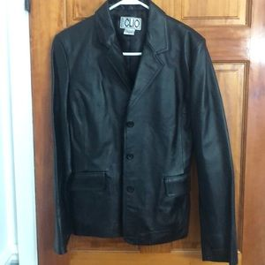 CLIO leather blazer